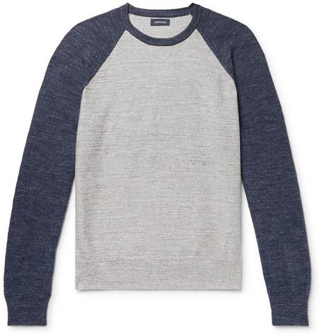 ff62c3d4d96799 J.Crew - Colour-Block Slub Mélange Cotton Sweatshirt