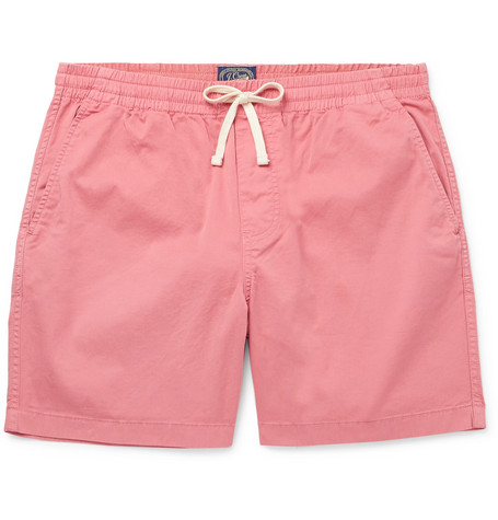 Dock Garment Dyed Stretch Cotton Drawstring Shorts by J.Crew