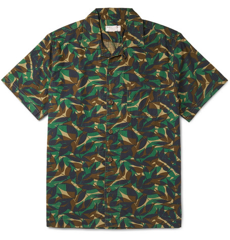 Camp Collar Printed Cotton Ripstop Shirt by J.Crew