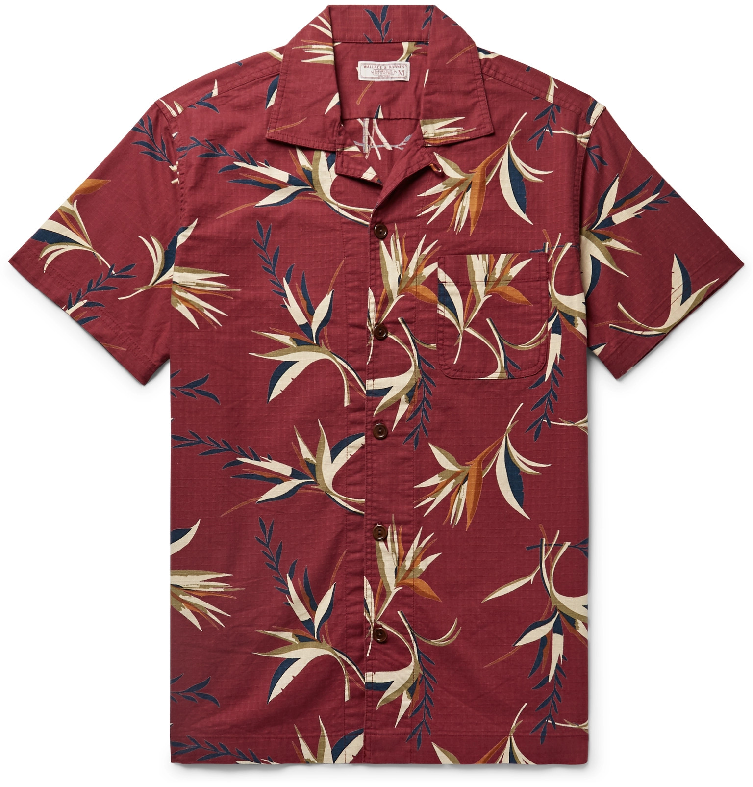 a32e8ac0 J.Crew - Wallace & Barnes Camp-Collar Printed Cotton-Ripstop Shirt
