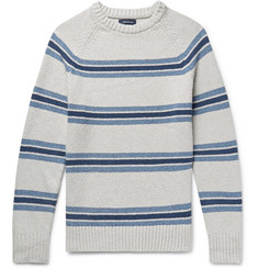 J.Crew Striped Cotton-Blend Sweater