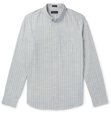 15a73e05ae J.Crew - Button-Down Collar Striped Cotton-Chambray Shirt