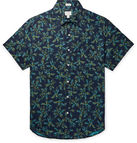 J.Crew Slim-Fit Printed Linen Shirt