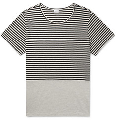Onia Striped Linen and Modal-Blend T-Shirt