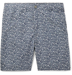 Onia Slim-Fit Long-Length Printed Swim Shorts