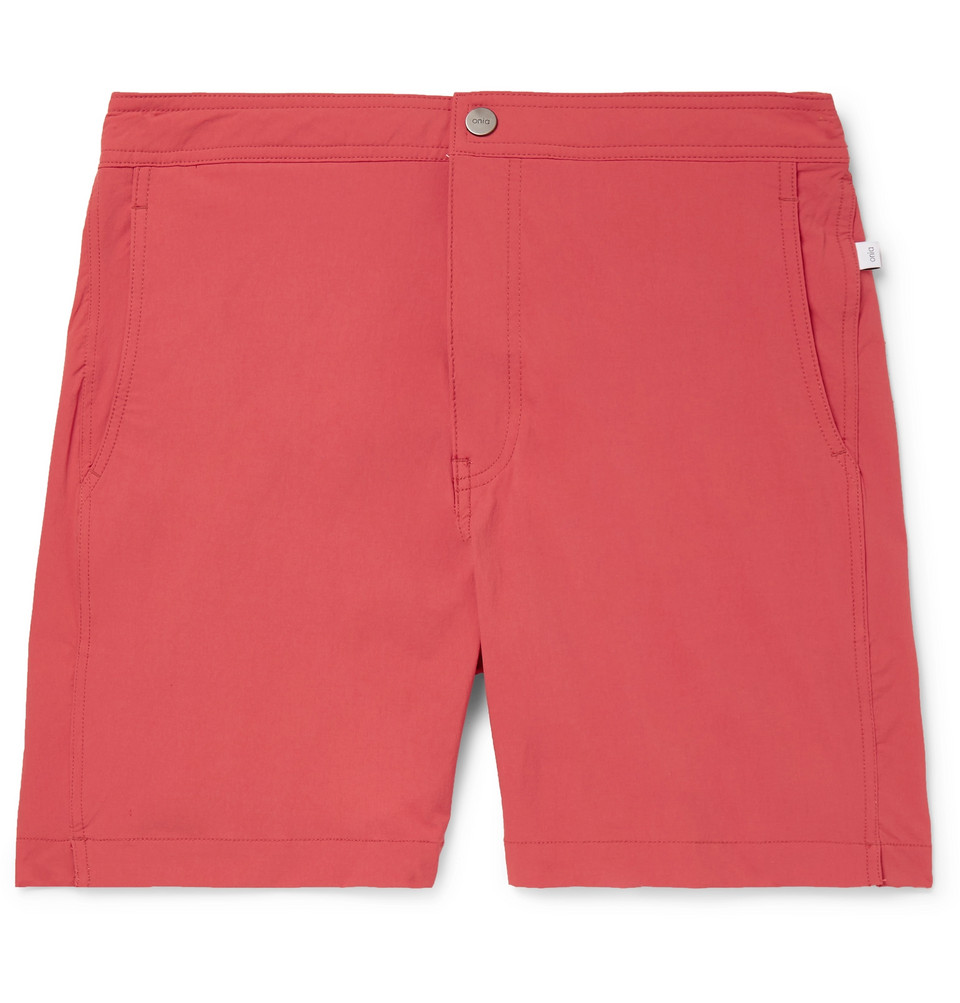 Calder Mid-length Swim Shorts - Red