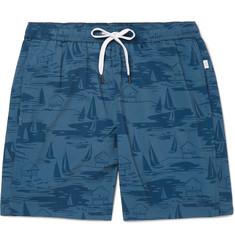 1fa6eeebebe3d Onia Charles Mid-Length Printed Swim Shorts