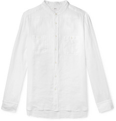 Mr P. - Grandad-Collar Linen Shirt