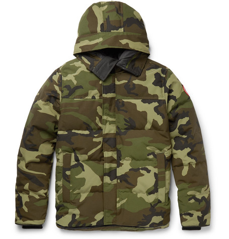 Canada Goose MacMillan Slim-Fit Camouflage-Print Quilted Shell Hooded Down Parka
