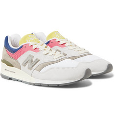 New Balance + Aimé Leon Dore 997 Mesh, Suede, and Rubber Sneakers