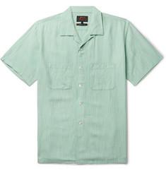 116711411d8 Beams Plus Camp-Collar Striped Slub Cotton Shirt · Beams Plus