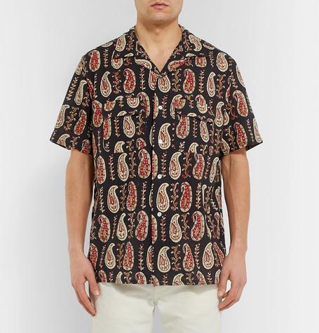 Camp Collar Printed Cotton Shirt by Beams Plus