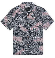 Neighborhood Camp-Collar Printed Lyocell Shirt