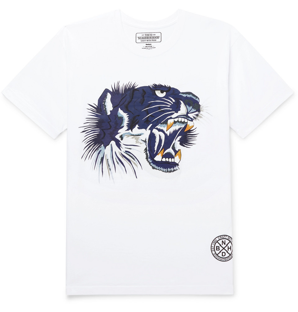 Souvenir Printed Cotton-jersey T-shirt - White