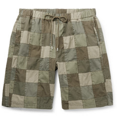 Neighborhood Patchwork Cotton Drawstring Shorts