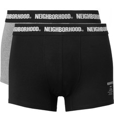 Neighborhood Two-Pack Stretch Cotton-Blend Boxer Briefs
