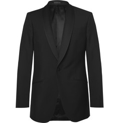 Richard James - Black Slim-Fit Wool and Mohair-Blend Tuxedo Jacket