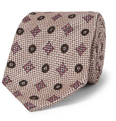 Rubinacci - 8cm Cotton and Silk-Blend Jacquard Tie