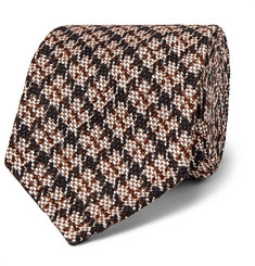 Rubinacci - Puppytooth Cotton and Silk-Blend Jacquard Tie