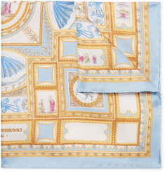 Rubinacci - Printed Silk-Twill Pocket Square