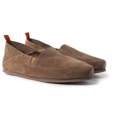 Mulo - Collapsible-Heel Suede Loafers