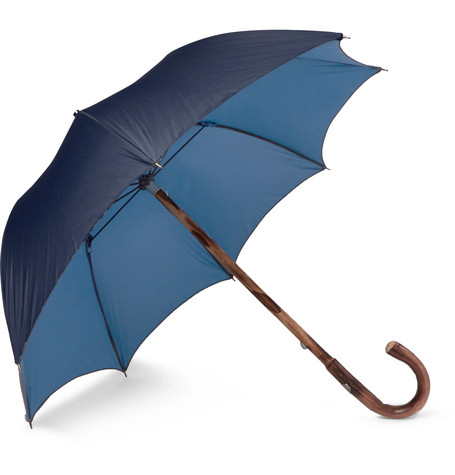 Lord Chestnut Wood Handle Two Tone Umbrella by Francesco Maglia