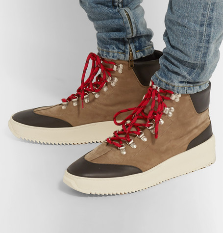 Nubuck And Leather High Top Sneakers by Fear Of God
