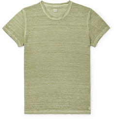 120% - Slim-Fit Garment-Dyed Linen T-Shirt