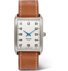 TOM FORD - 001 Stainless Steel and Leather Watch
