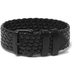 TOM FORD Woven Leather Watch Strap