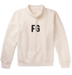 Fear of God Logo-Appliquéd Loopback Cotton-Jersey Mock-Neck Sweatshirt
