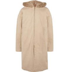 Fear of God Faux Fur-Lined Cotton-Canvas Hooded Coat