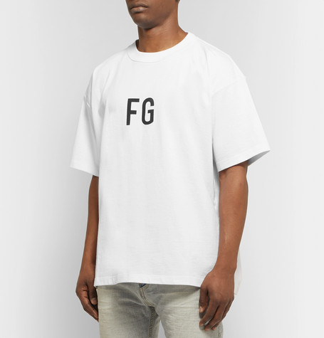 Oversized Logo Print Cotton Jersey T Shirt by Fear Of God