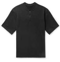 Fear of God Oversized Half-Zip Loopback Cotton-Jersey T-Shirt