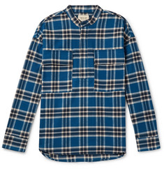 Fear of God Oversized Grandad-Collar Checked Cotton-Flannel Shirt
