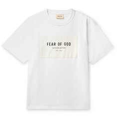 Fear of God Oversized Logo-Appliquéd Cotton-Jersey T-Shirt