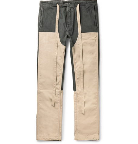 Fear of God Panelled Cotton-Canvas and Nylon Drawstring Trousers