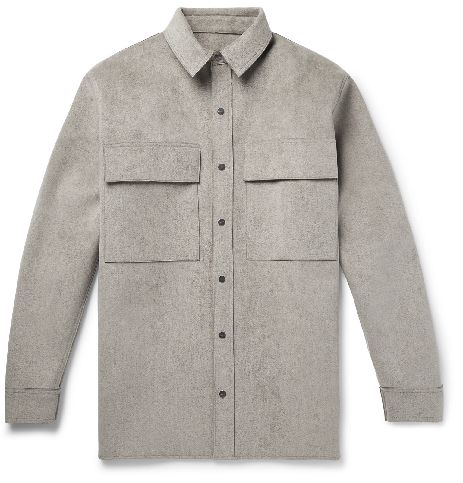 e56b4e7e219 Fear of God - Oversized Faux Suede Shirt Jacket
