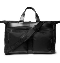 Montblanc Nightflight Leather-Trimmed Twill Holdall
