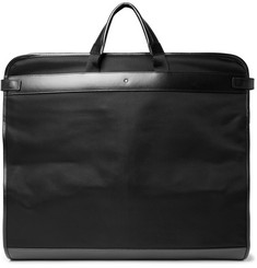 Montblanc - Nightflight Leather-Trimmed Canvas Garment Bag
