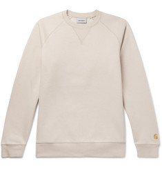 Carhartt WIP Chase Logo-Embroidered Fleece-Back Cotton-Blend Jersey Sweatshirt