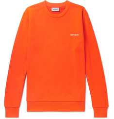 Carhartt WIP Logo-Embroidered Loopback Cotton-Blend Jersey Sweatshirt