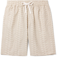 Carhartt WIP Wide-Leg Logo-Print Cotton-Twill Shorts
