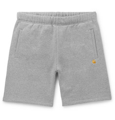 Carhartt WIP Chase Mélange Fleece-Back Cotton-Blend Jersey Shorts