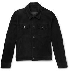 Mr P. - Slim-Fit Suede Trucker Jacket