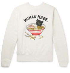Human Made Printed Loopback Cotton-Jersey Sweatshirt