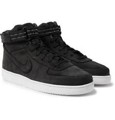 Nike - Vandal High Supreme QS Leather-Trimmed Suede High-Top Sneakers