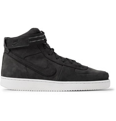 Nike Vandal High Supreme QS Leather-Trimmed Suede High-Top Sneakers