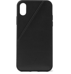 Native Union - Clic Card Leather iPhone X and XS Case