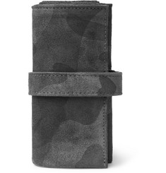 Bamford Watch Department Camouflage-Print Suede Watch Roll